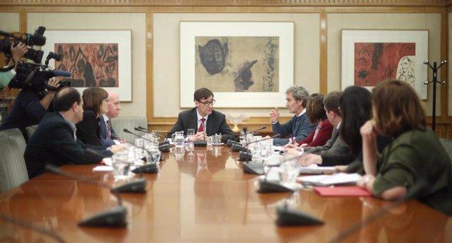 Rueda de prensa para informar sobre la reunión del Comité de seguimiento del Coronavirus tras la confirmación de un caso en Madrid
