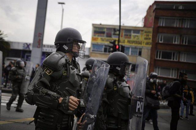 La ESMAD ha sido señalada por Naciones Unidas por sus recientes actuaciones en las manifestaciones que se han producido en Colombia en los últimos meses.