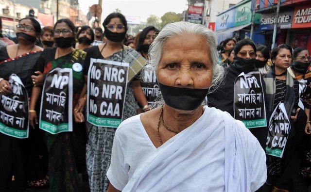 Protestas en India contra la Ley de Ciudadanía.