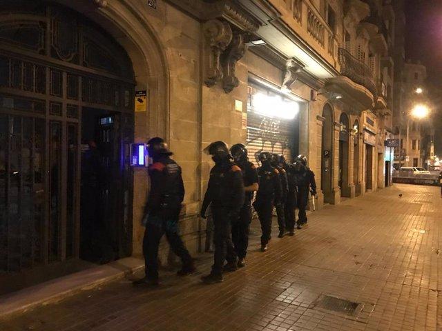 Operativo contra el tráfico de drogas en el Eixample de Barcelona