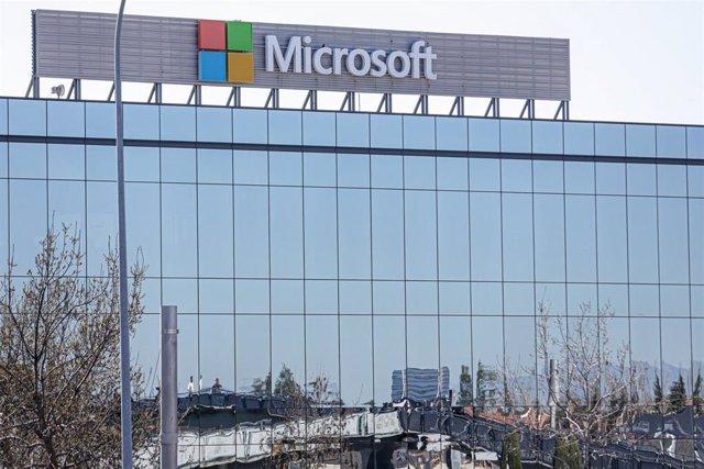 Sedes de la empresa Microsoft en el Parque Empresarial La Finca de Pozuelo de Alarcón, en Madrid.