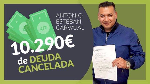 Antonio Esteban Carvajal, cliente de Repara tu deuda