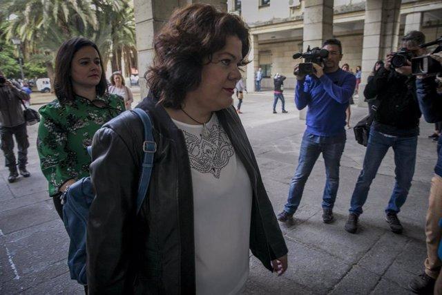 La alcaldesa de Huévar del Aljarafe, María Eugenia Moreno, nueva portavoz del PP en la Diputación Provincial de Sevilla en una imagen de archivo
