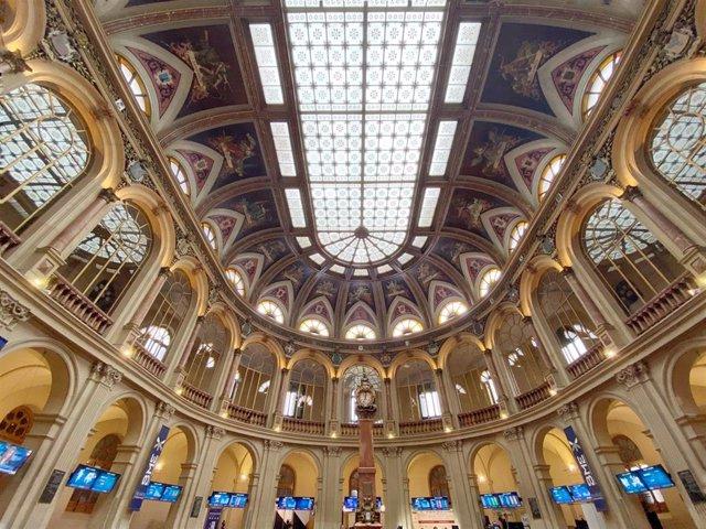 Imagen del edificio de la Bolsa de Madrid.