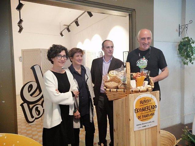 Natalia Bellostas, Ana Elizalde, Fernando Santafé y Edorta Lezaun presentan el 'EKOmercado'