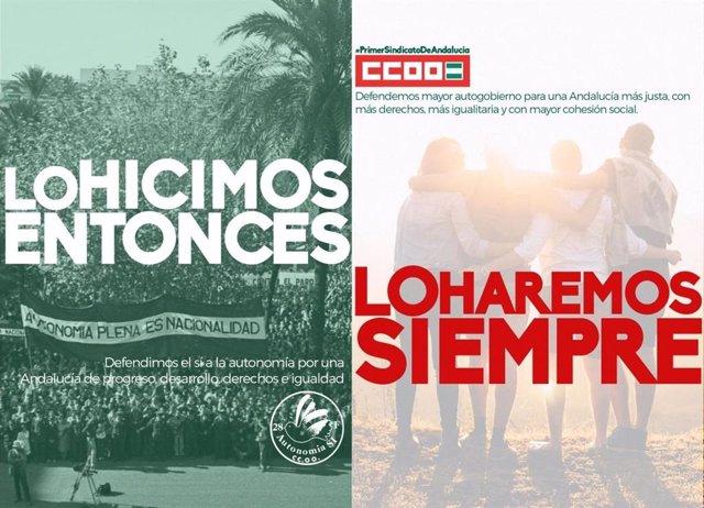 Imagen del cartel de CCOO-A sobre su campaña del 28F.