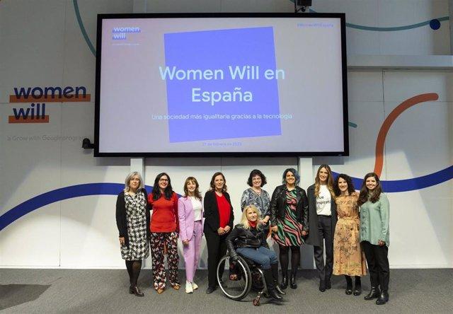 Presentación de la iniciativa 'Women Will'  de Google en España