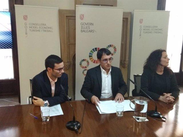 El conseller de Trabajo, Iago Negueruela, en la presentación de los datos de siniestralidad de 2019.
