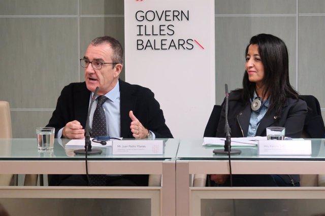 El vicepresidente y conseller de Transición Energética y Sectores Productivos, Juan Pedro Yllanes, ha recibido esta martes a la Comisión de Transporte y Turismo del Parlamento Europeo, encabezada por su presidenta, Karima Delli.