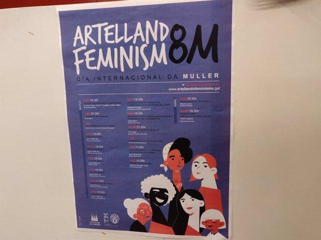 Cartel de la programación de Santiago para el mes que reivindica a la mujer trabajadora