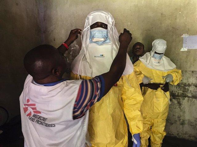 Trabajos de MSF contra el ébola en Bikoro, en República Democrática del Congo