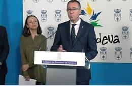 El consejero de Salud, Pablo Fernández, comparece tras el Consejo de Gobierno.