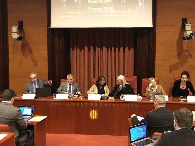Comparecencia del fiscal superior de Catalunya, Francisco Bañeres, en la comisión de Justicia del Parlament para presentar la Memoria 2019, el 27 de febrero de 2020.