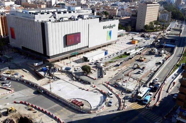 Losa superior del túnel del metro en toda la avenida de Andalucía de Málaga