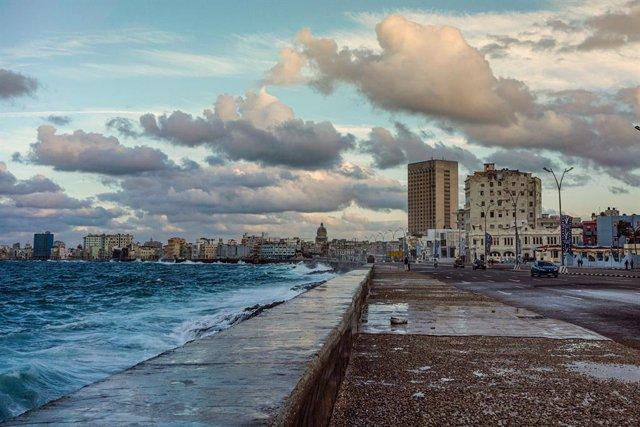 Vista del dic de l'Havana (Cuba)