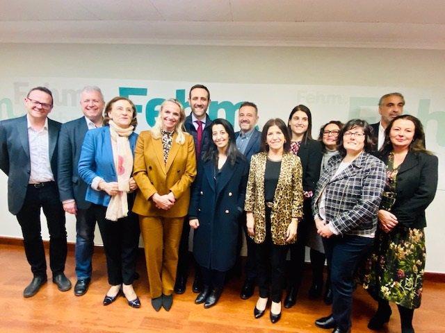 Reunión entre la FEHM, ACH y representantes de la Comisión de Transportes y Turismo del Parlamento europeo.
