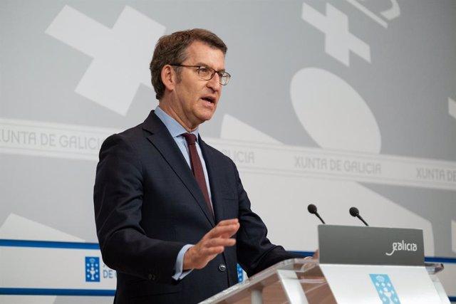 El president de la Xunta, Alberto Núñez Feijóo.