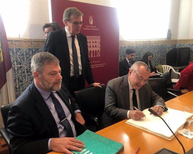 Los embajadores de Alemania y Francia en España, Wolfgang Dold y Jean-Michel Casa, en Toledo.
