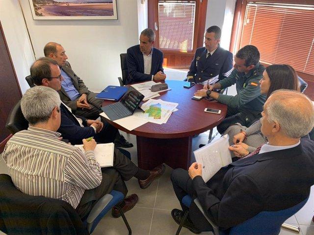 El subdelegado del Gobierno en Cádiz con familiares del Rúa Mar