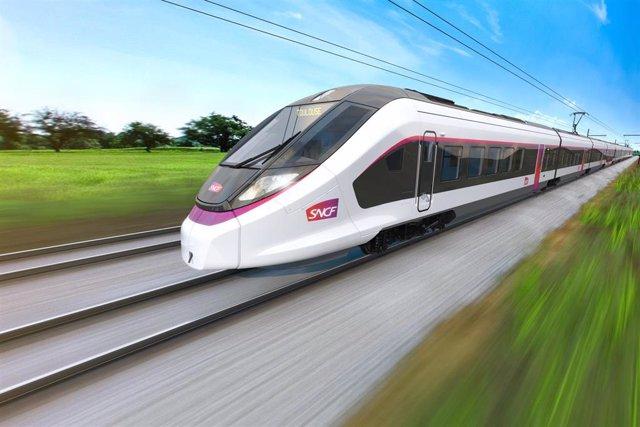Tren que CAF suministrará a Francia