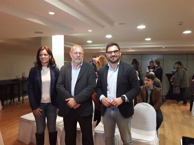El candidato a la presidencia de Ciudadanos, Francisco Igea, participa en un encuentro en Logroño