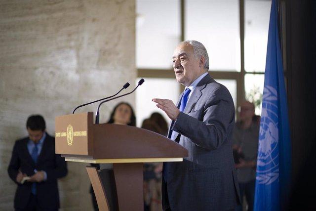 El jefe de la Misión de Naciones Unidas en Libia (UNSMIL), Ghasán Salamé