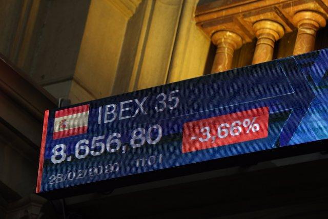 Cotización del Ibex en la bolsa de Madrid
