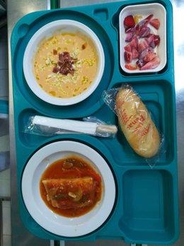 Menú de comida por el Día de Andalucía en el hospital de Linares