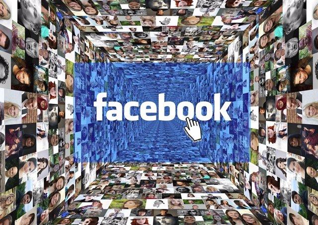 Imagen recurso Facebook con imágenes de caras de fondo