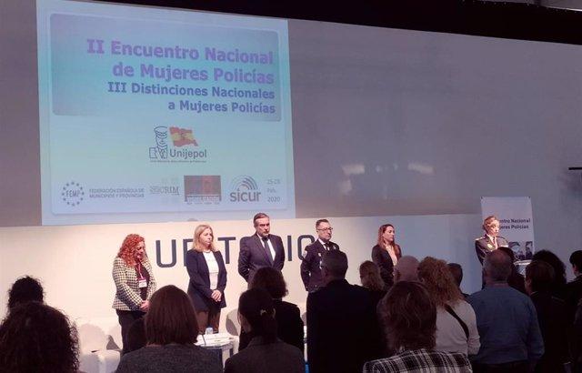 Comunidad y Ayuntamiento de Madrid inauguran en Sicur el II Encuentro Nacional de Mujeres Policía