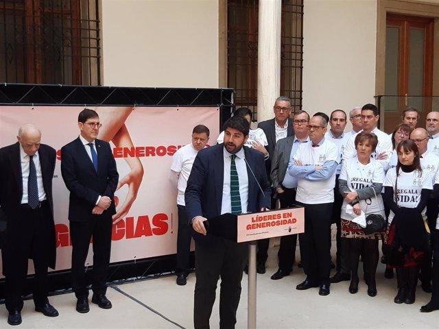 Fernando López Miras, durante el acto celebrado este viernes