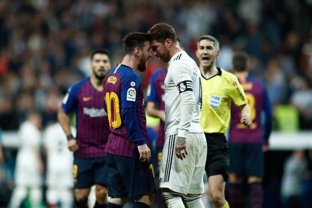 Messi (Barcelona) y Ramos (Real Madrid)