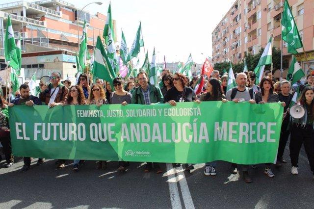 Manifestación por el Día de Andalucía
