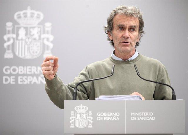 El director del Centre de Coordinació d'Alertes i Emergències Sanitaries, Fernando Simón, compareix a Madrid, al Ministeri de Sanitat/ passeig del Prado/ Madrid (Espanya).