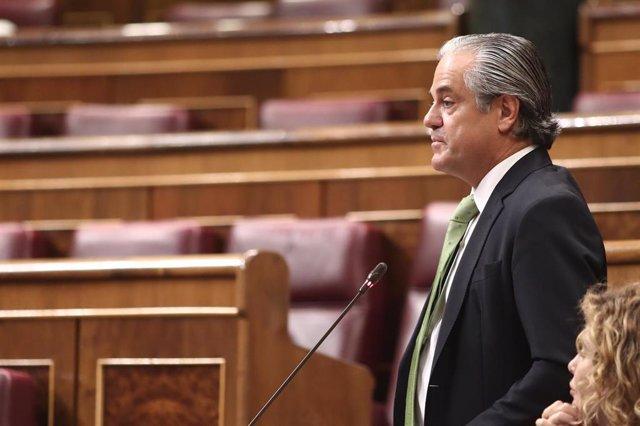 El diputado de Ciudadanos, Marcos de Quinto, en el Pleno del Congreso