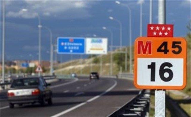 Imagen de recurso de un tramo de la M-45.