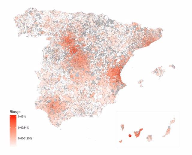 Imagen del modelo predictivo de riesgo por coronavirus