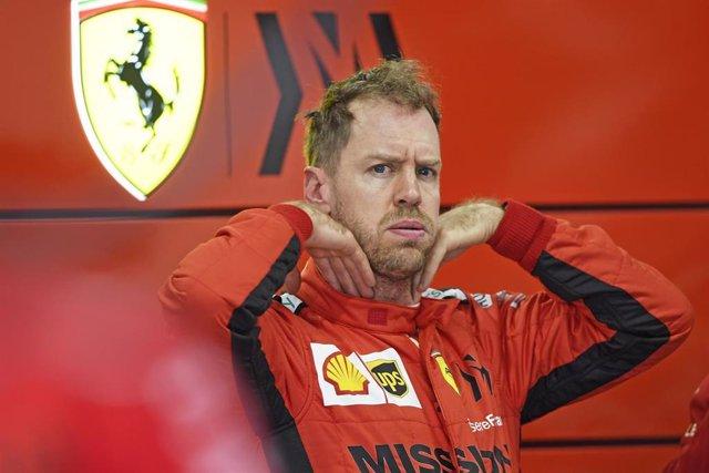 Sebastian Vettel durante la pretemporada