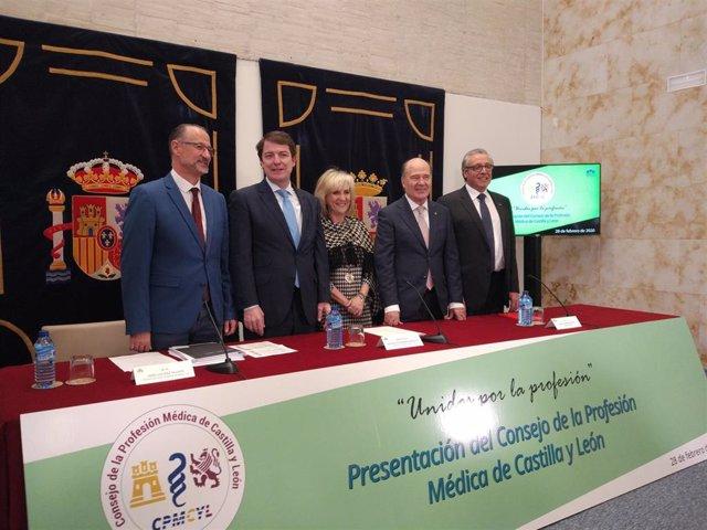 Acto de presentación del Consejo de la Profesión Médica de Castilla y León en las Cortes.