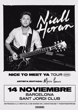 Niall Horan actuarà a Barcelona el 14 de novembre