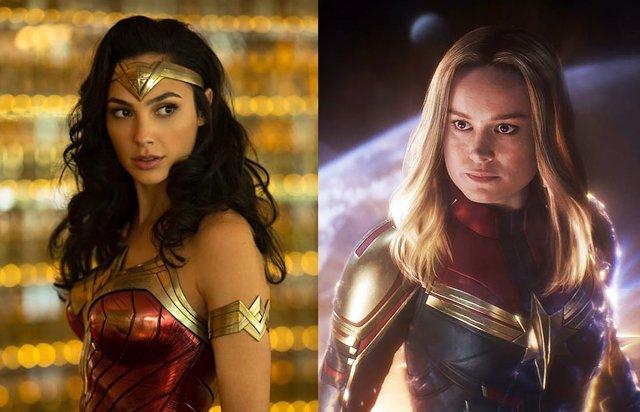 Wonder Woman y la Capitana Marvel