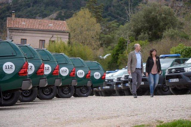 La consellera Teresa Jordà presenta els nous vehicles per als agents rurals