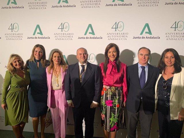 Miembros de Cs en el Día de Andalucía