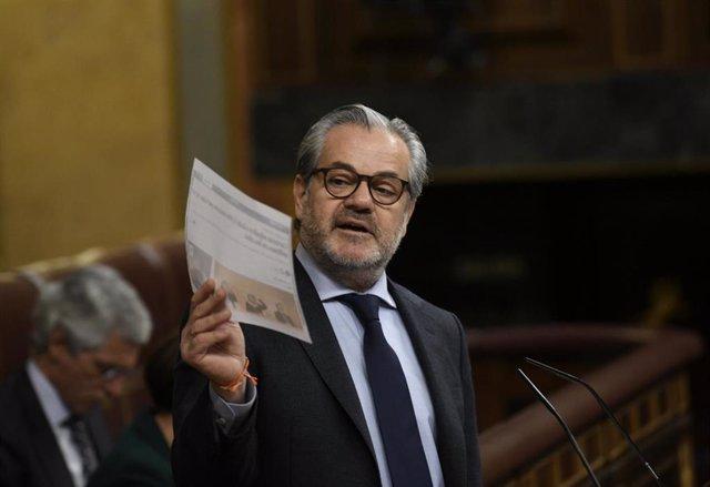 El diputado de Ciudadanos Marcos de Quinto interviene en el Pleno del Congreso