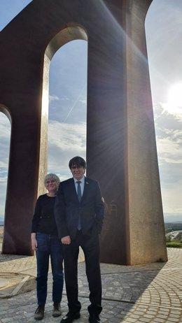 L'exconsellera Clara Ponsatí i l'expresident de la Generalitat Carles Puigdemont.