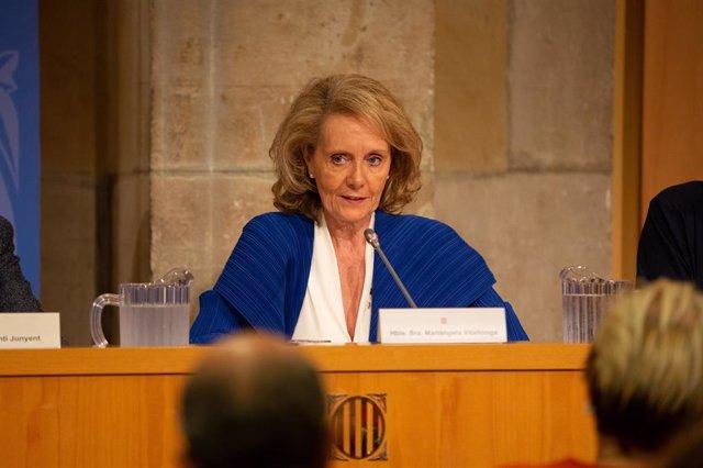 La consellera de Cultura de la Generalitat, Maringela Vilallonga (arxiu)