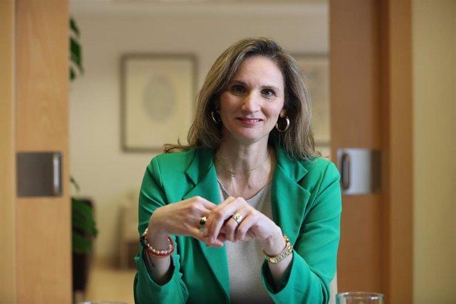 La consejera de Medio Ambiente de la Comunidad de Madrid, Paloma Martín durante su entrevista con Europa Press en la Consejería, en Madrid (España), a 20 de febrero de 2020.