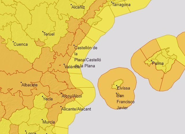 Avisos por viento en la Comunitat Valenciana para el lunes 2 de marzo