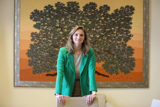 La consejera de Medio Ambiente de la Comunidad de Madrid, Paloma Martín posa antes de su entrevista con Europa Press en la Consejería, en Madrid (España), a 20 de febrero de 2020.