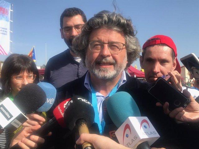 El líder de Demòcrates, Antoni Castellà, en l'acte del Consell per la República en Perpignan (França), el 29 de febrer de 2020.